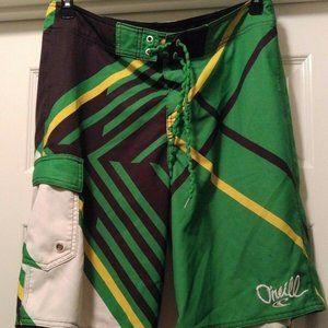 O'Neill Superfreak Series Men's Green Board Shorts